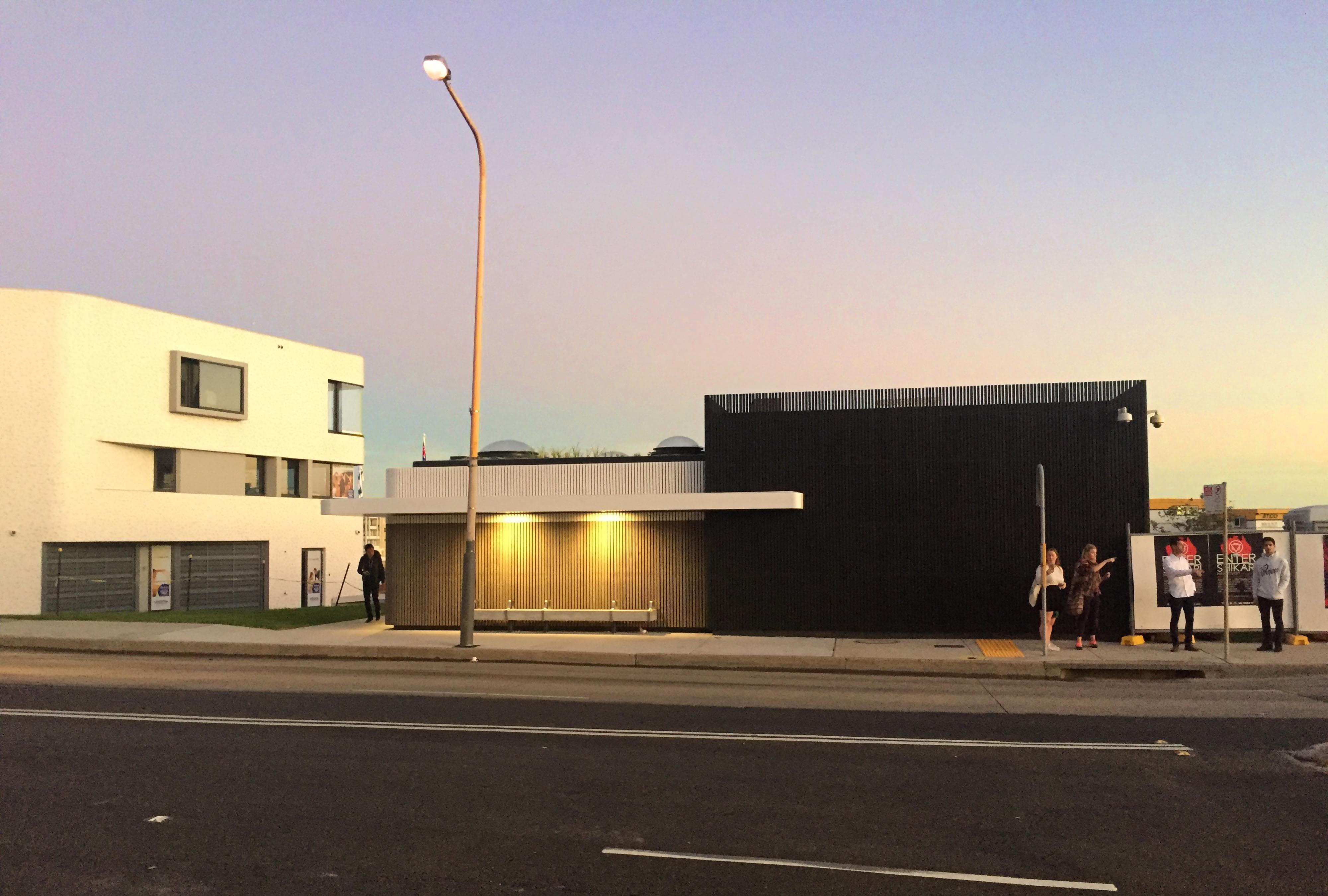 North Bondi Amenities, a public project by award winning Sam Crawford Architects. Beautiful Bondi Sunset.