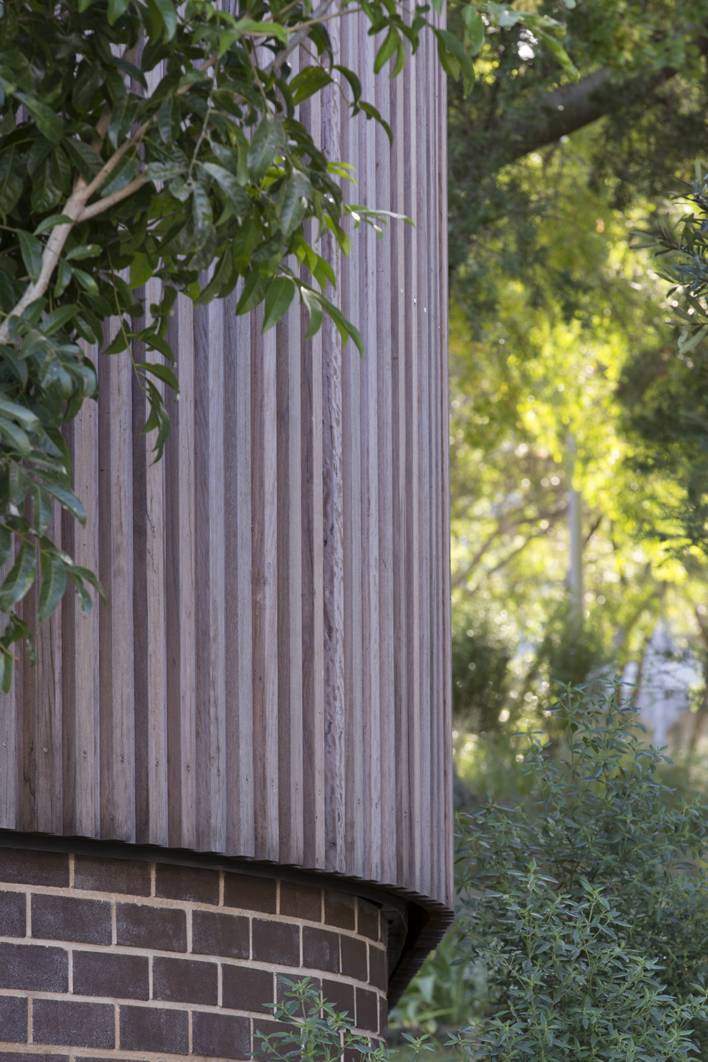 St James Park Amenities, detail wooden privacy screening