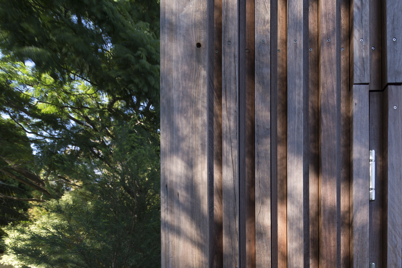 St James Park Amenities, wooden detaiil.