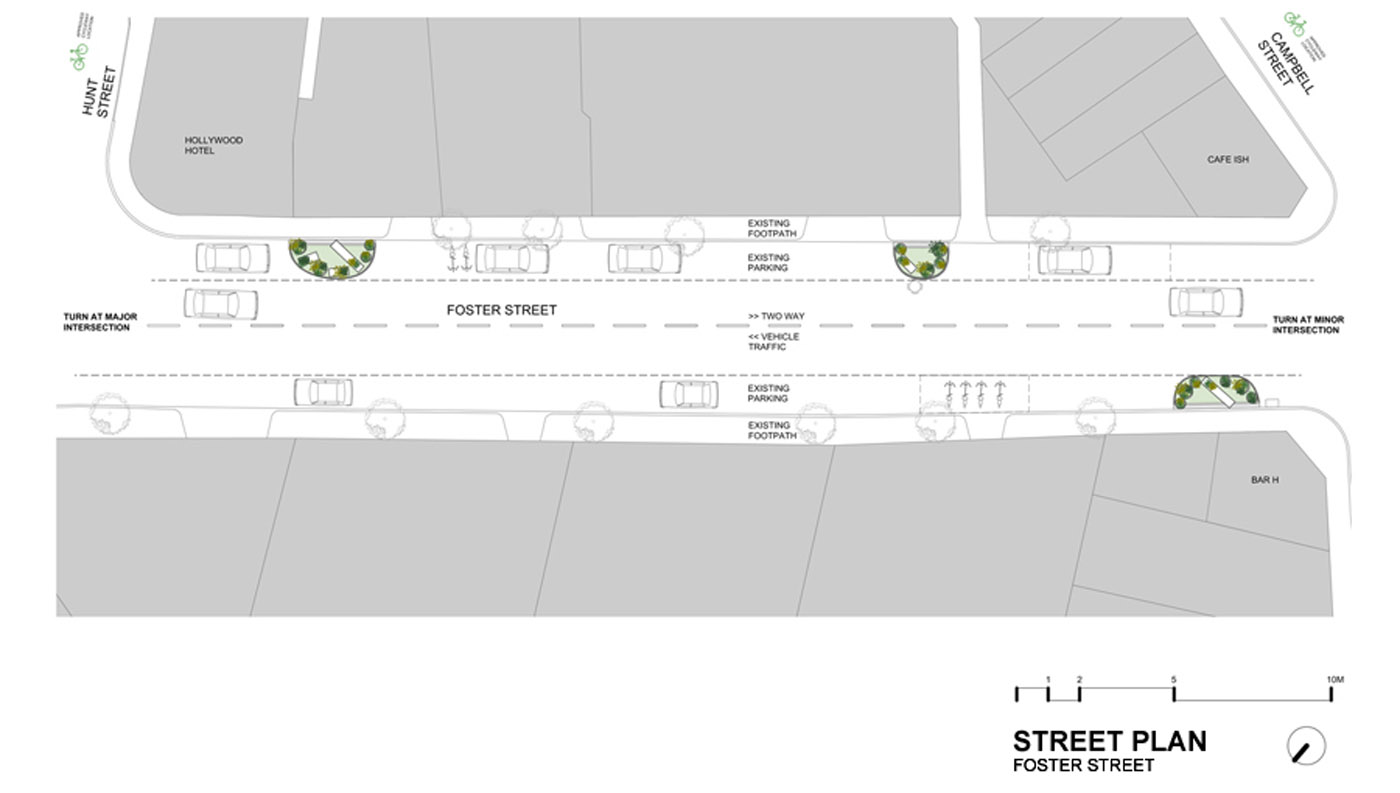 Edible Outdoor Rooms by Sydney award winning architecture office Sam Crawford Architects. Rendered site plan