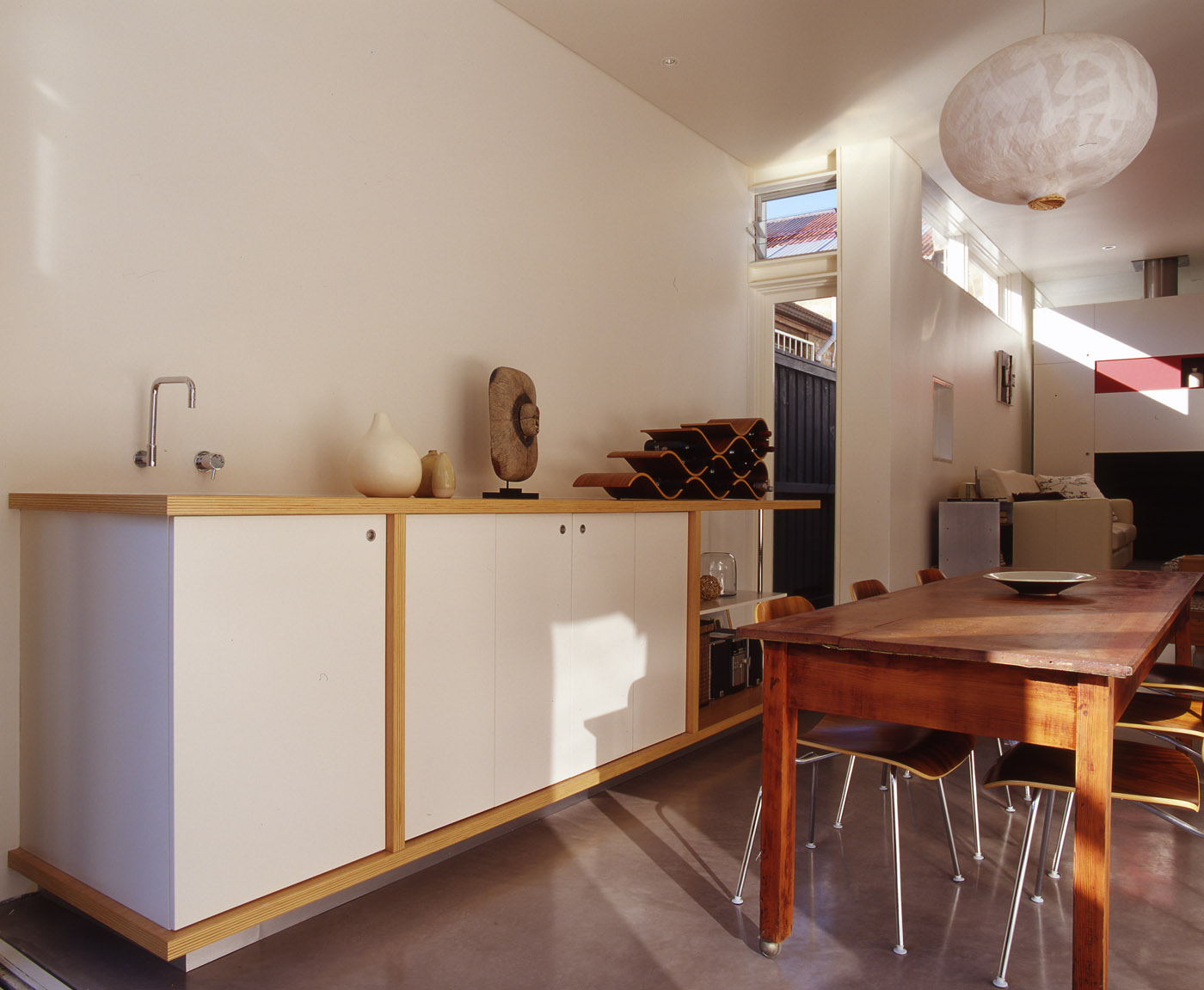 Wake Murphy House by Sydney award winning residential architecture office Sam Crawford Architects. Multi purpose joinery unit