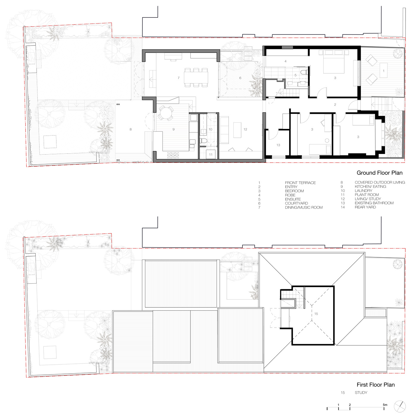 Smee Schoff House by Sam Crawford Architects, old floor plans