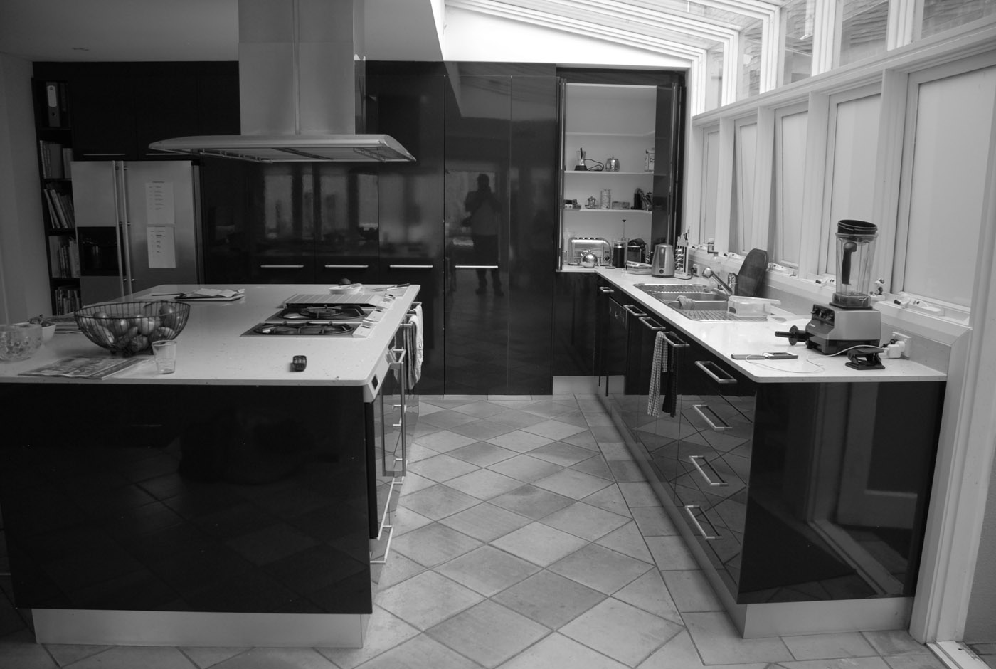 Conway Atkins House in Dover Heights by Sydney architect Sam Crawford Architect. This was the existing kitchen.