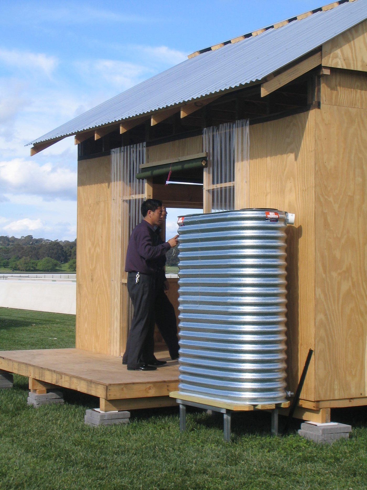 Disaster Relief Housing by Sydney award winning architecture office Sam Crawford Architects. Low cost shelter prototype.