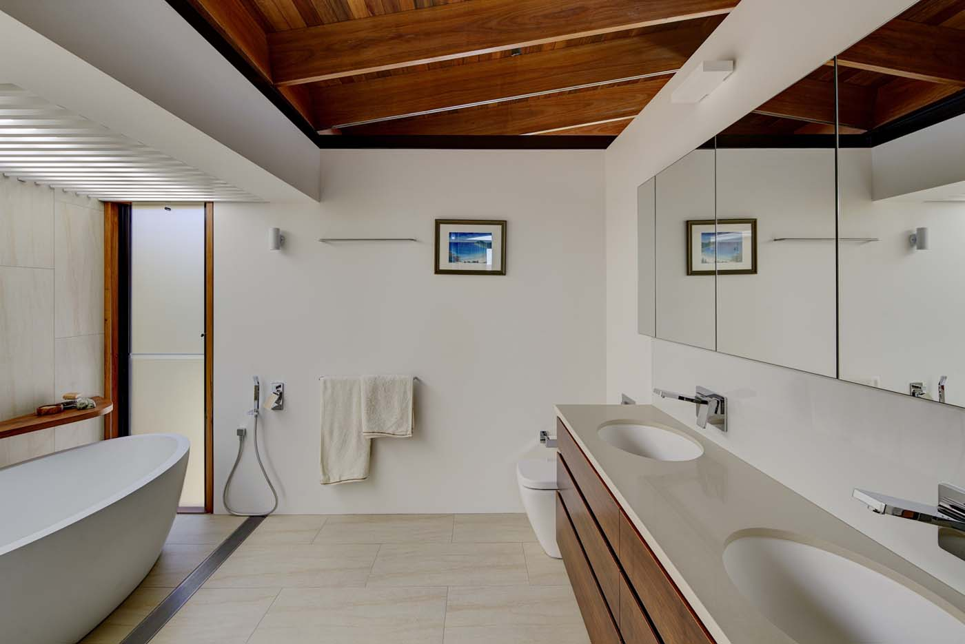 The Bower by Sam Crawford Architect, bathroom photo highlighting materiality and fixtures