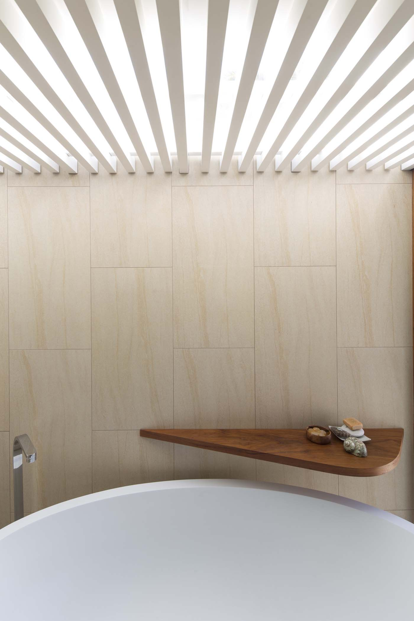 The Bower by Sam Crawford Architect, bathroom photo highlighting materiality, fixtures and lighting