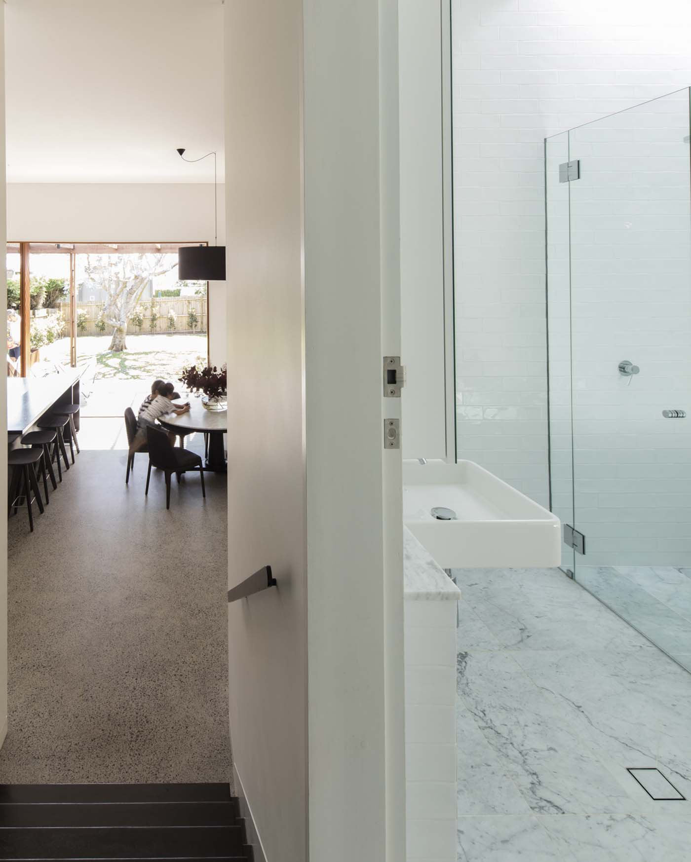Sung Dobson house by Sam Crawford Architects, Sydney. Link between old and new.