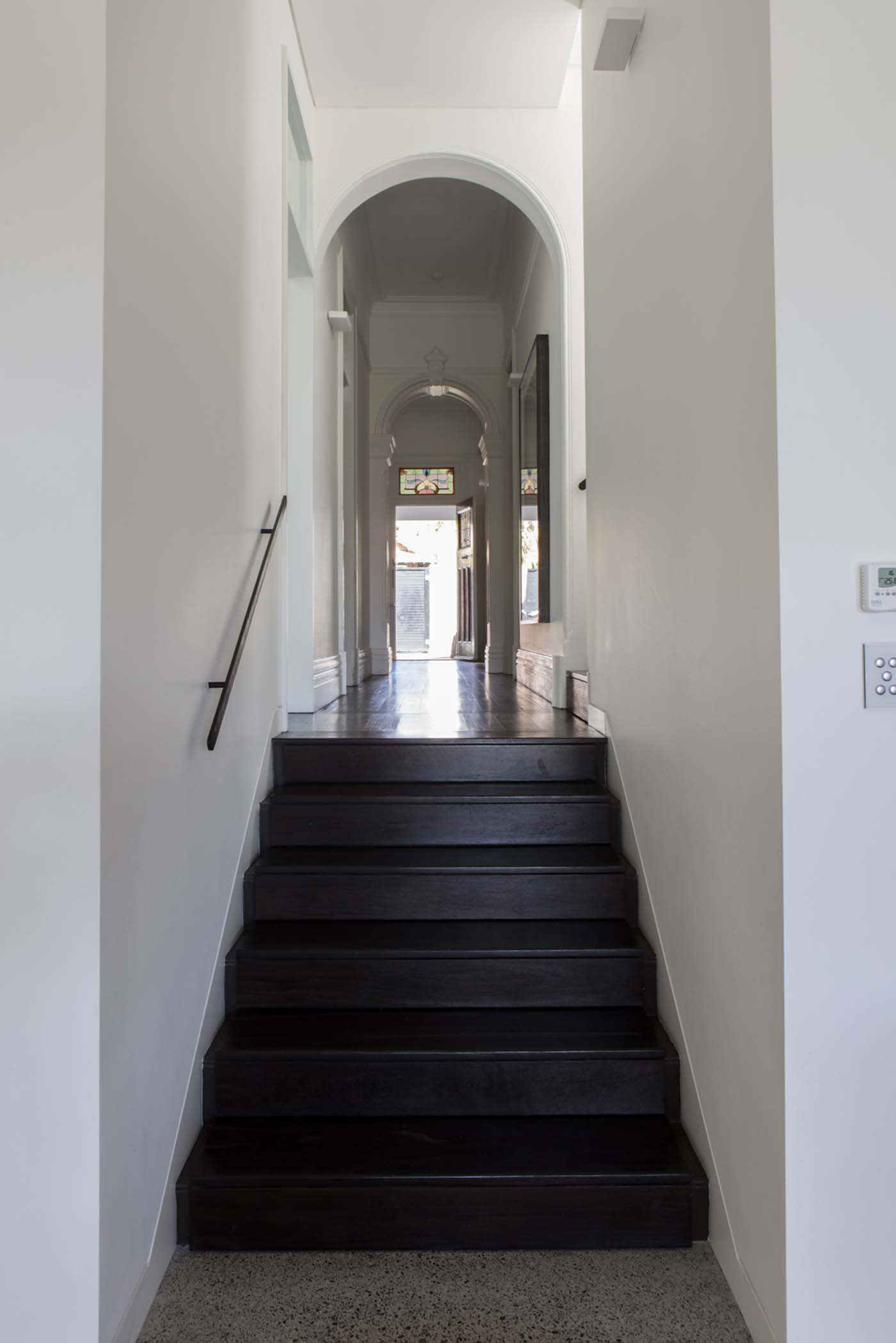 Sung Dobson house by Sam Crawford Architects, Sydney. Threshold between old and new.