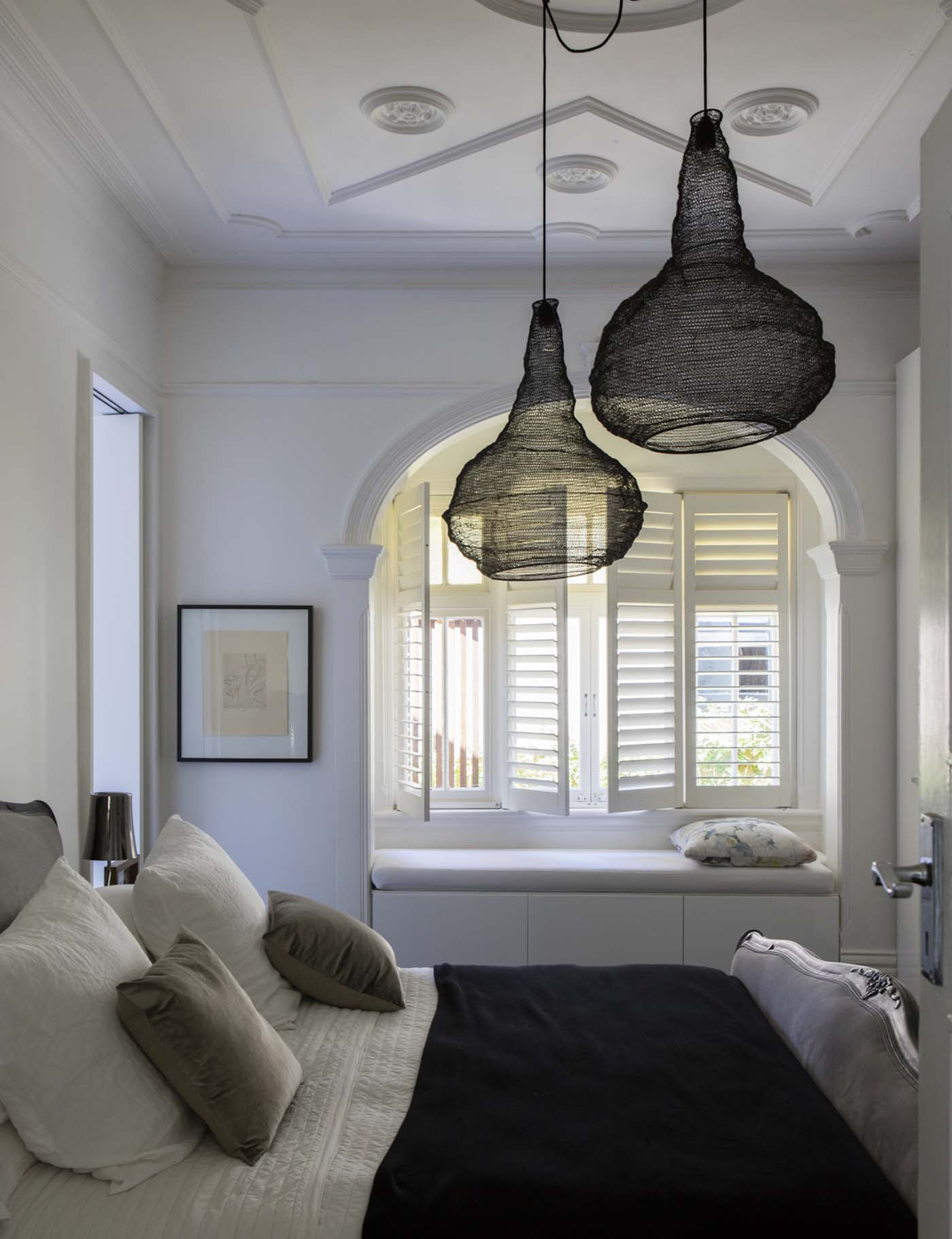 Sung Dobson house by Sam Crawford Architects, Sydney. Bedroom
