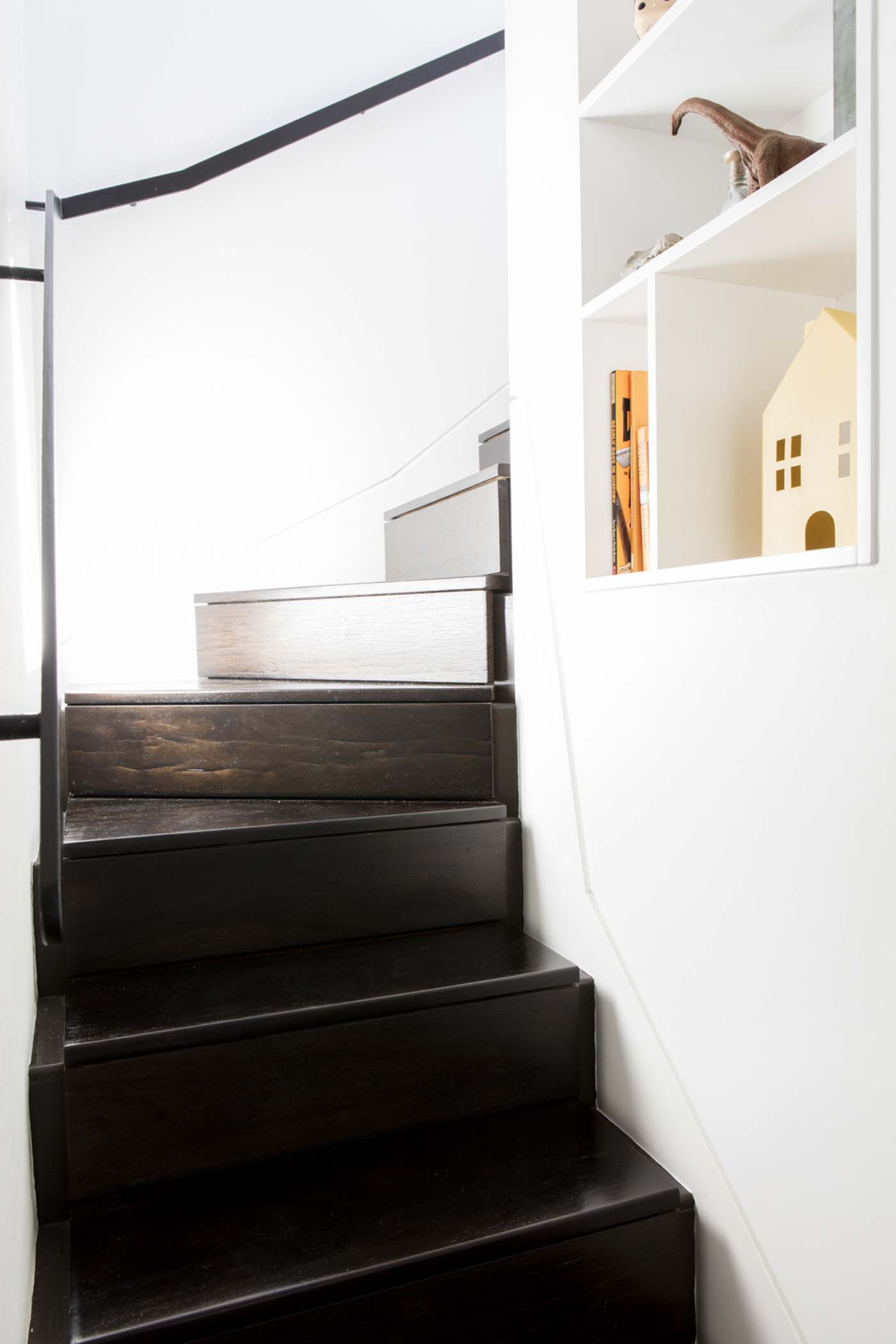 Sung Dobson house by Sam Crawford Architects, Sydney. Stairs lead to attic conversion.