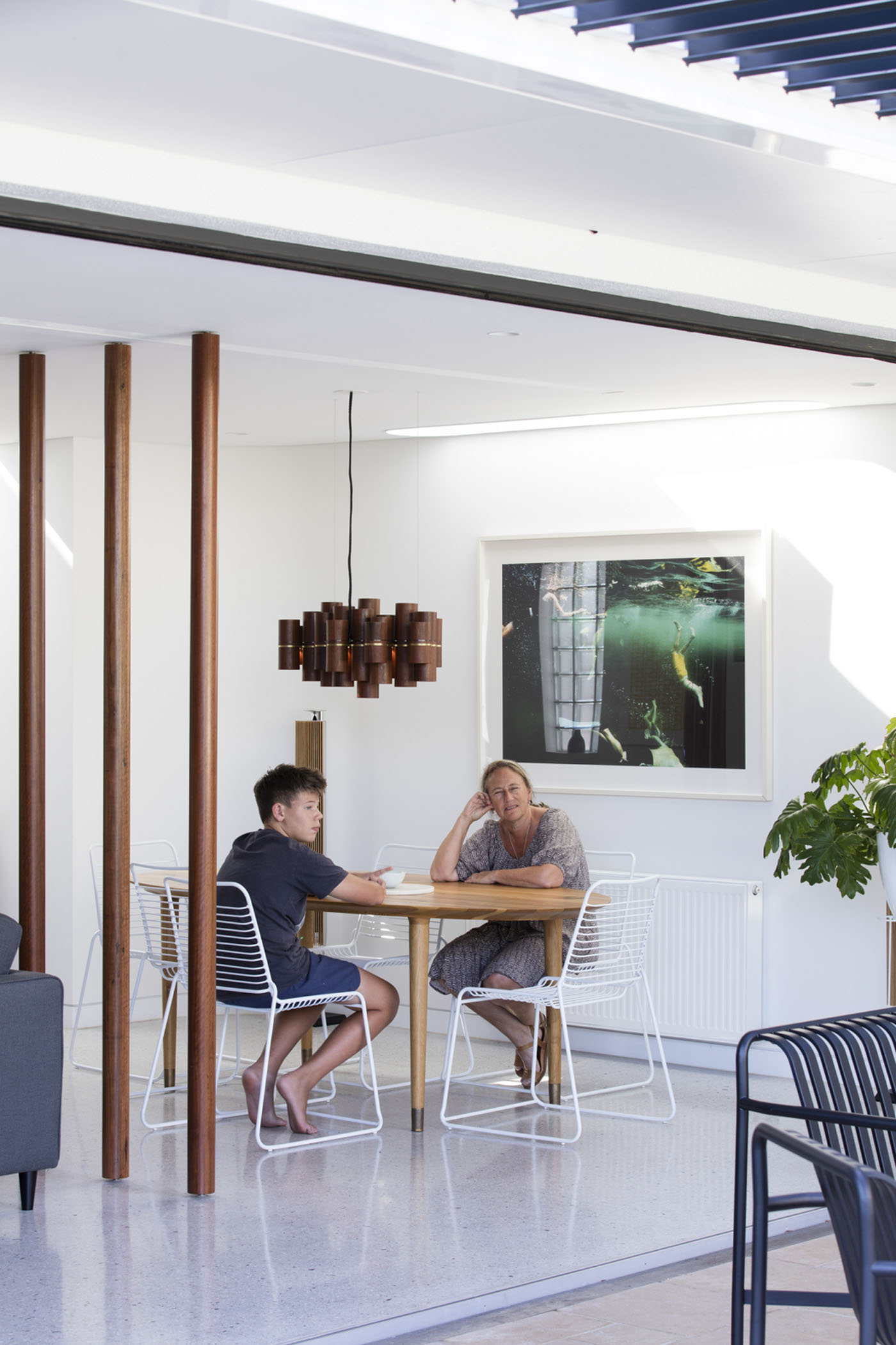 Conway Atkins House in Dover Heights by Sydney architect Sam Crawford Architect. An opening towards the garden and new skylights create an amazing light quality and direct connection to the garden.