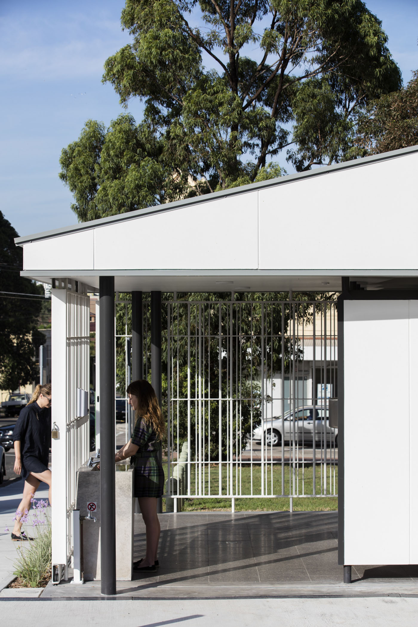 Sydenham Green Amenities by Sam Crawford Architects, Sydney. Safe, clean and accessible.