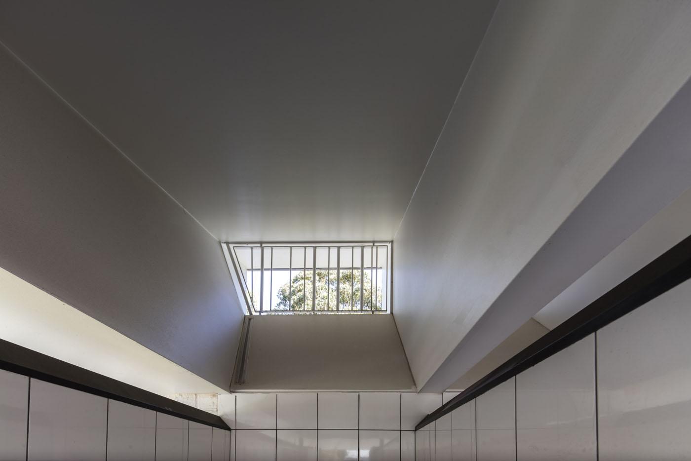 Sydenham Green Amenities by Sam Crawford Architects, Sydney. Light tunnels.