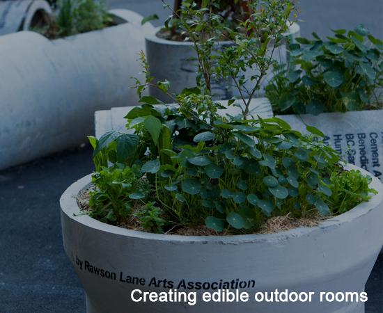 Creating edible outdoor rooms