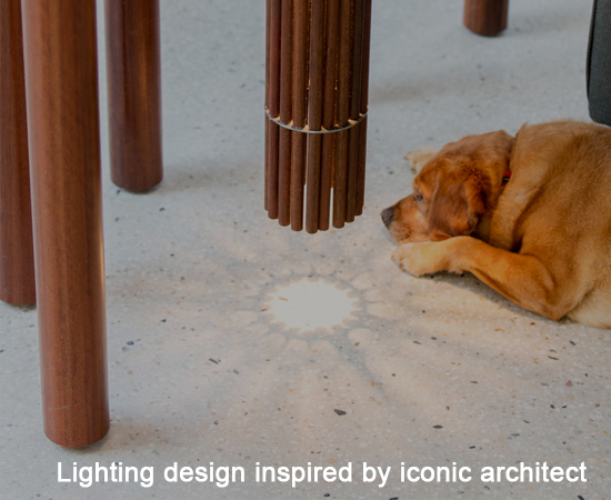 Lighting design inspired by iconic architect