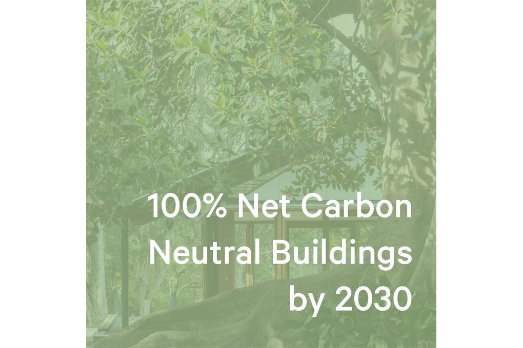 100% Net Zero Carbon by 2030